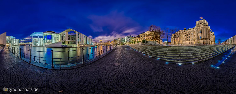 360 Gard Panorama an der Spree - der Reichstag und das Abgebordetenhaus
