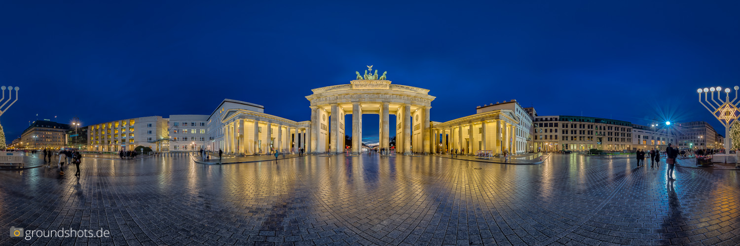 360 Grad Panorama Brandenburger Tor Berlin