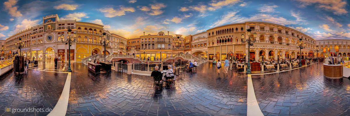 360 Grad Panorama des Marktplatzes im Venetian