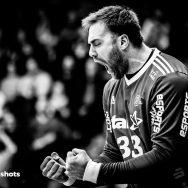 Andreas Wolff im Spiel Frisch Auf Goeppingen - THW Kiel