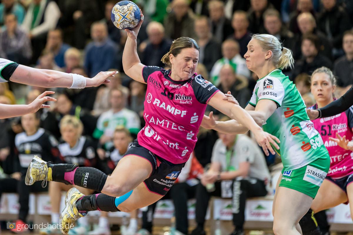 Anna Loerper mit acht Treffern gegen Frisch Auf