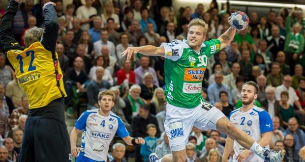 Anton Halen im Spiel Frisch Auf Goeppingen - Bergischer HC