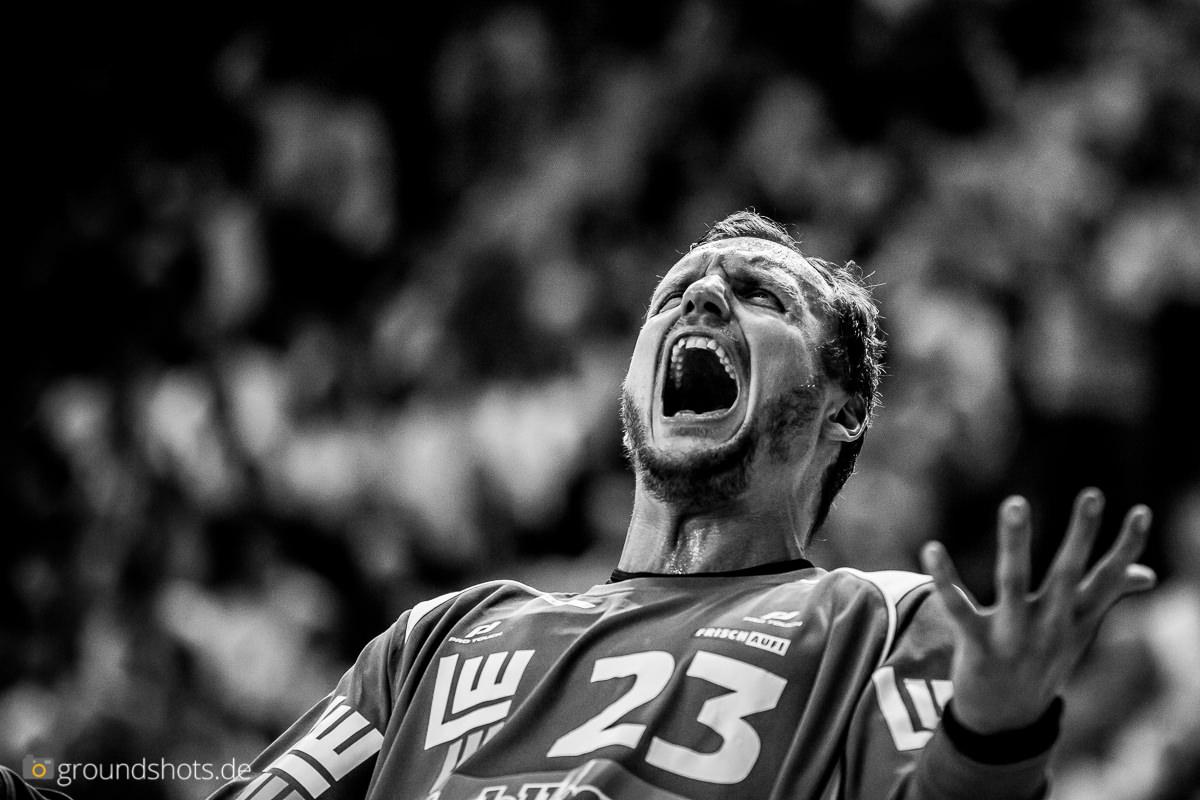 Bastian Rutschmann im Spiel FRISCH AUF Goeppingen - THW Kiel