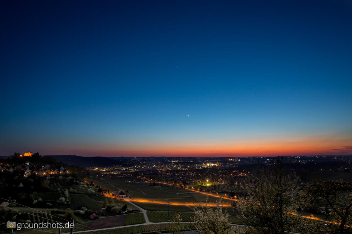 Goldene Stunde aus den Stuttgarter Weinbergen