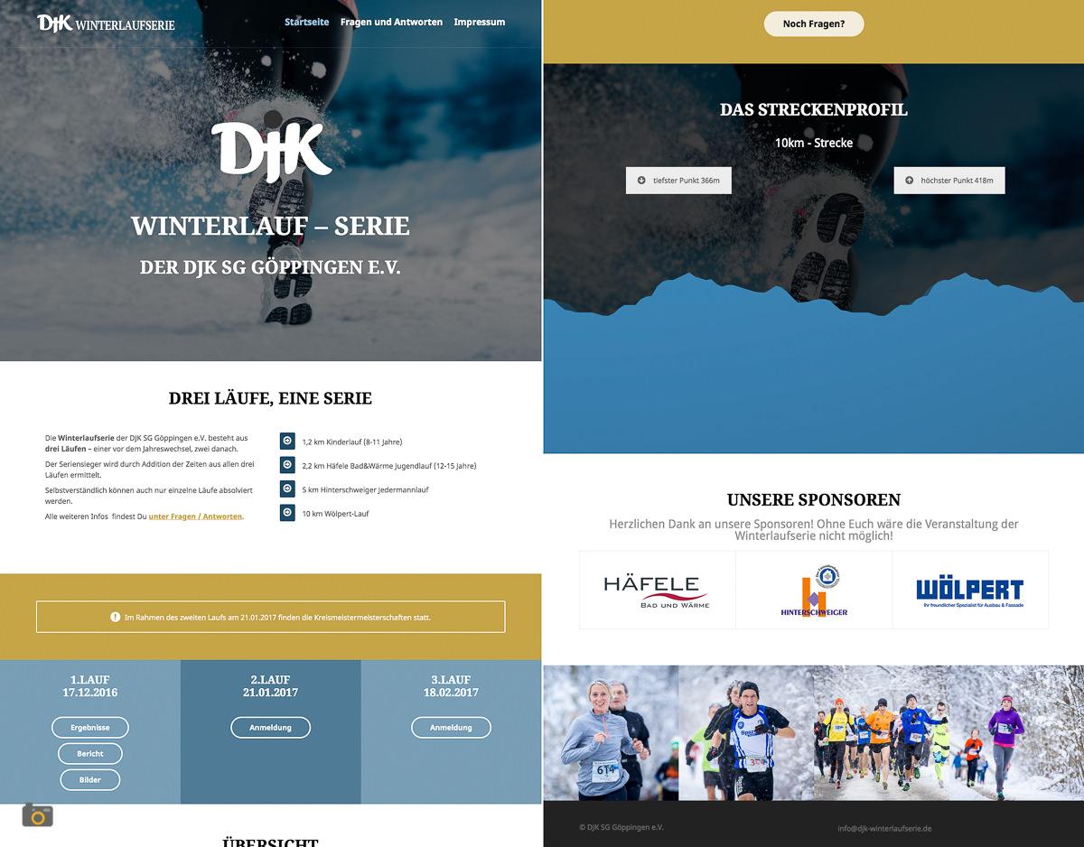 Die neue Homepage der DJK Winterlaufserie