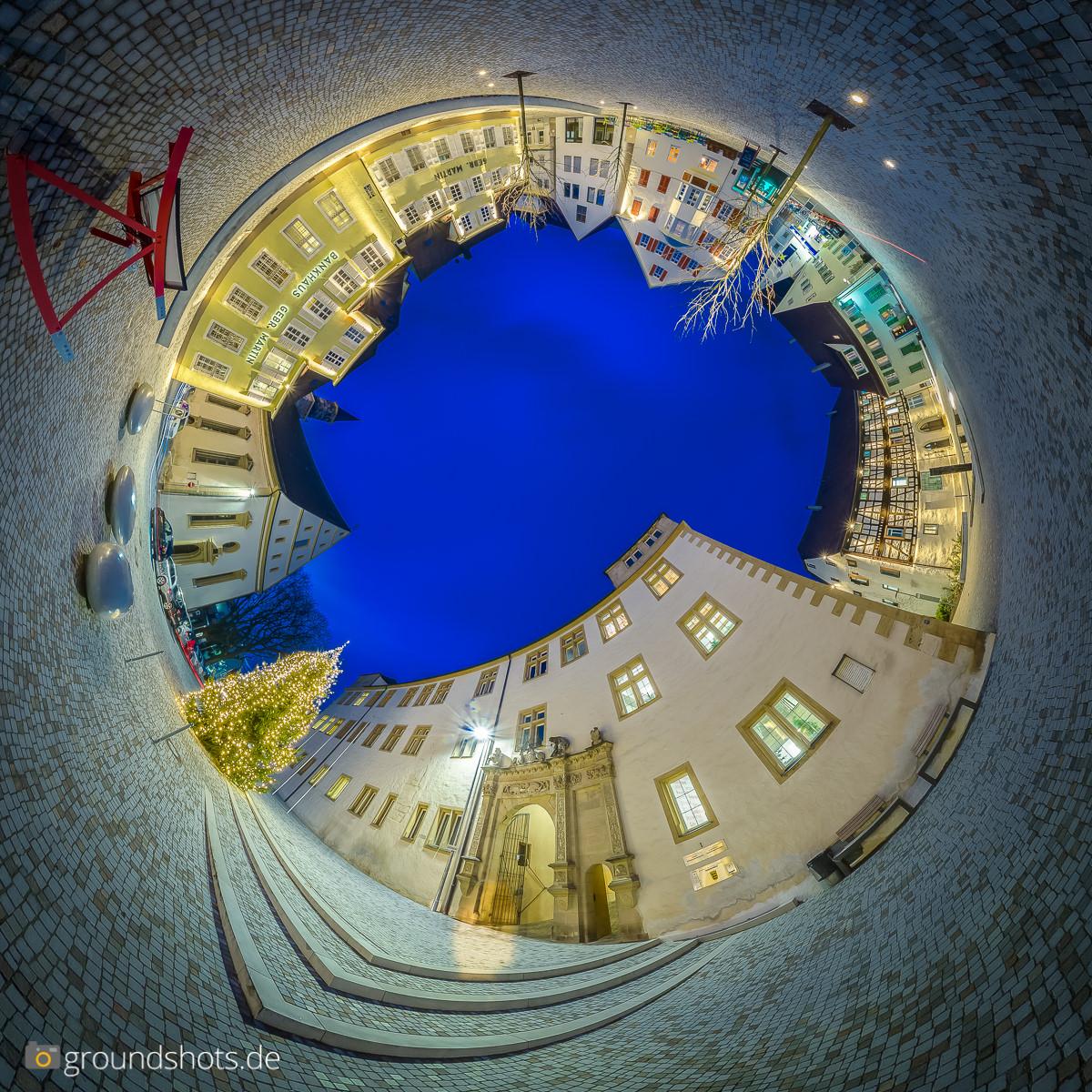 Little Planet umgekehrt Schlossplatz in Goeppingen