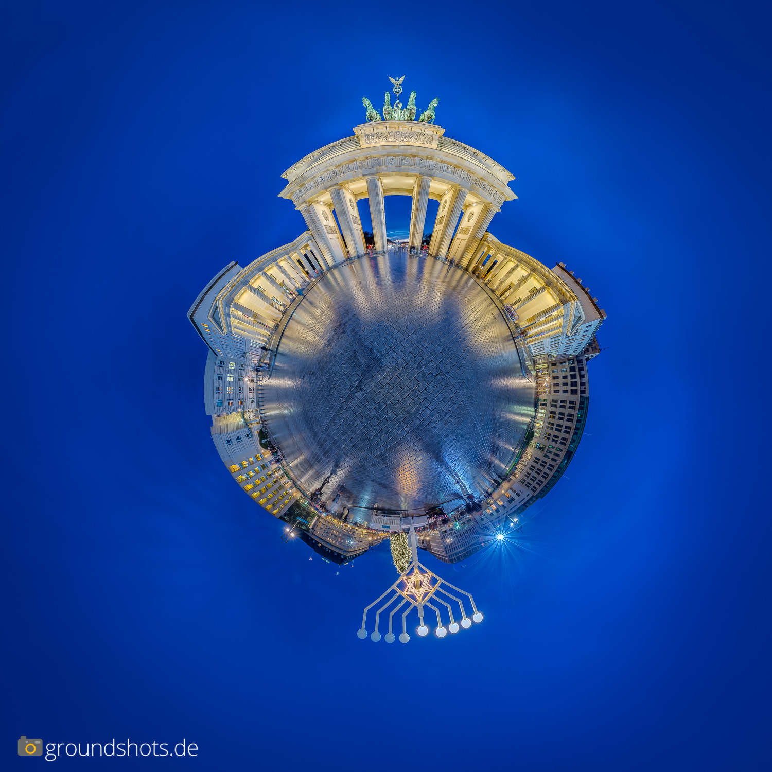 Little Planet vom Brandenburger Tor