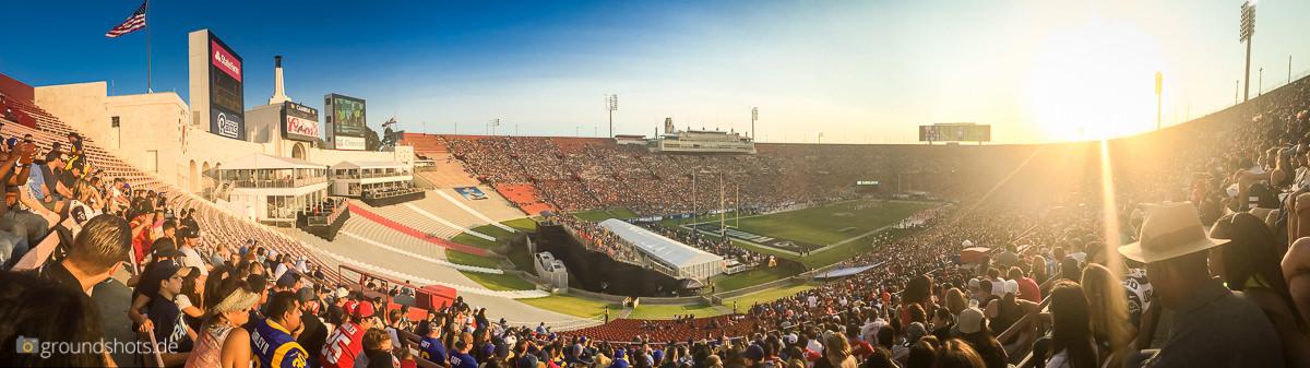 Panorama aus dem Los Angeles Memorial Coliseum