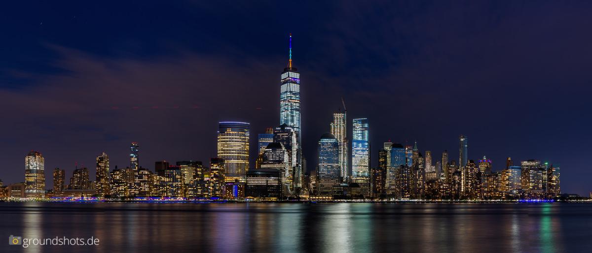 Die Skyline Manhattan beim Sonnenuntergang - Basisbild