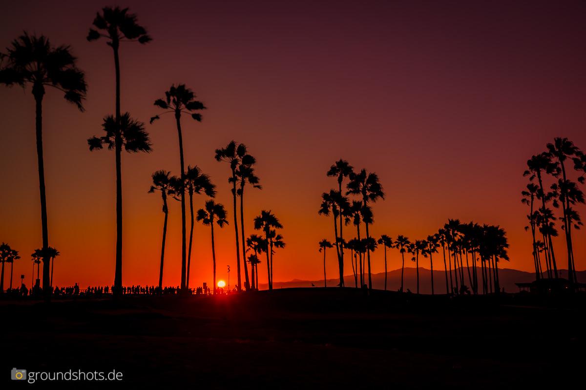 Sonnenuntergang in Venice Beach