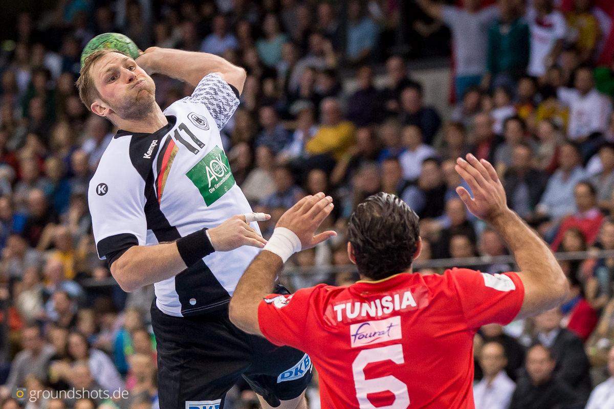 Steffen Weinhold im Spiel Deutschland - Tunesien