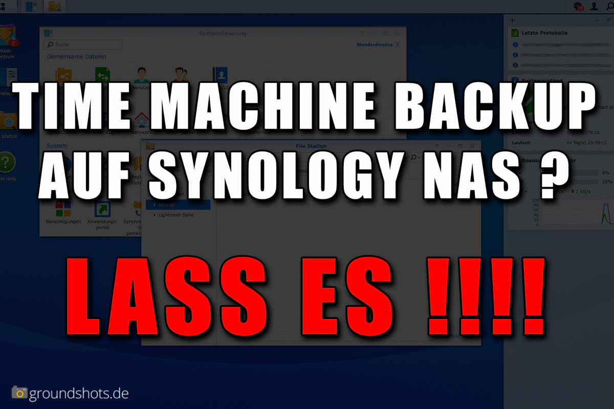 Time Machine Backup auf Synology NAS