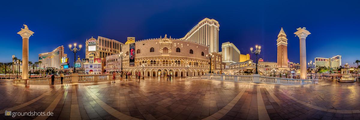 Vorplatz des Venetian,Las Vegas, als 360° Panorama