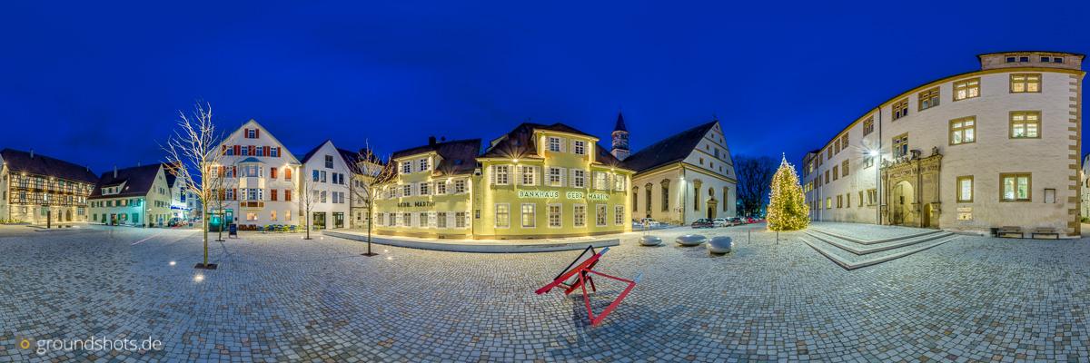 Panorama vom Schlossplatz in Goeppingen